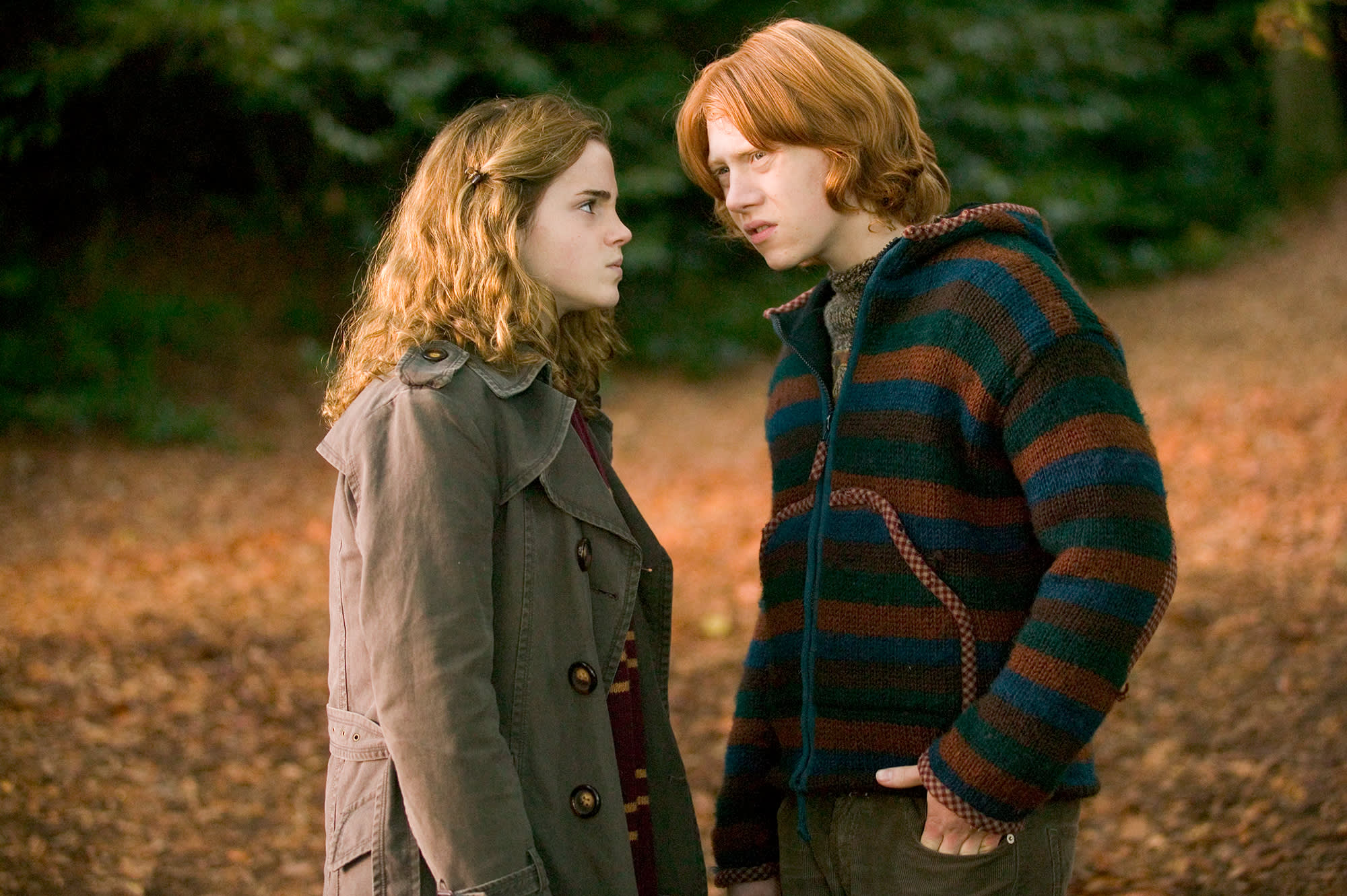 ron ir hermione real life
